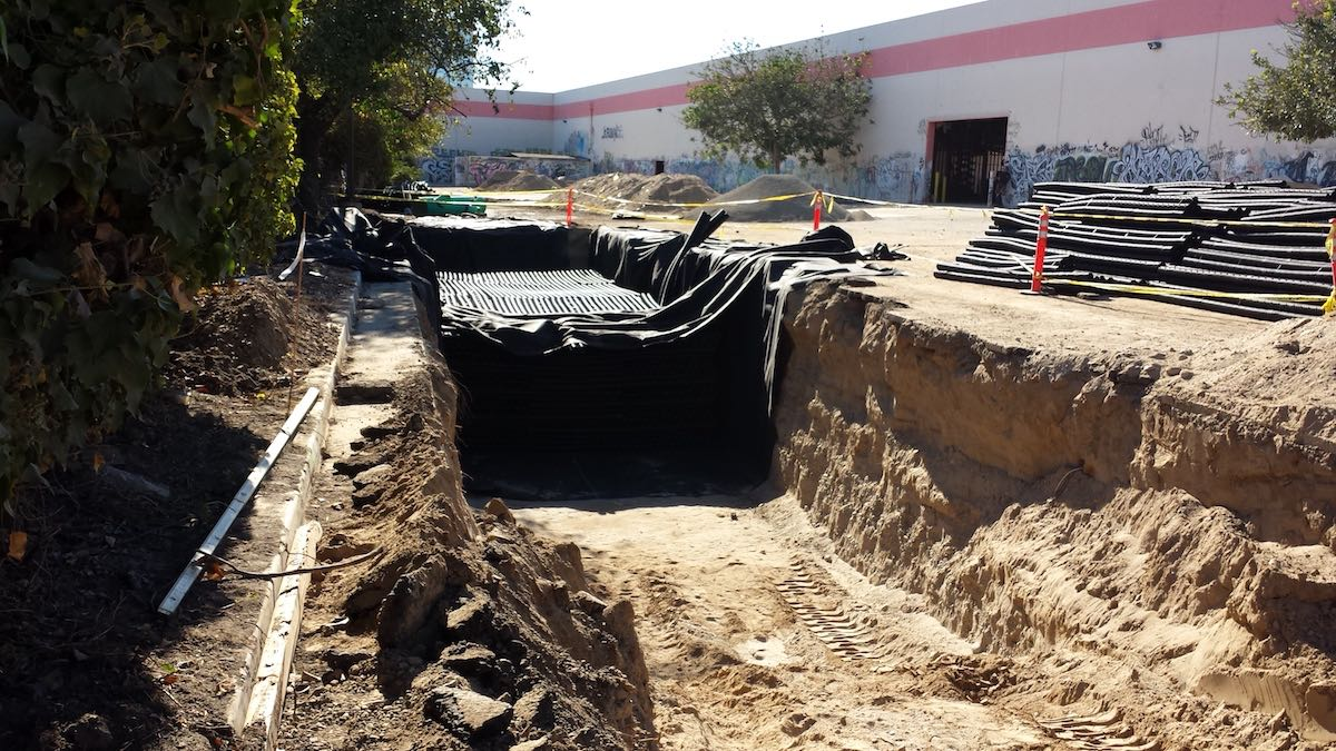 RainSpace™ Commercial Stormwater Management Chamber Installation