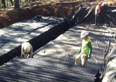 Sloping Hillside RainSpace Installation